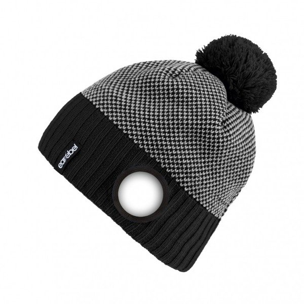 Stained Beanie Black-White