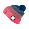 Warm Up Beanie Red-Turquoise
